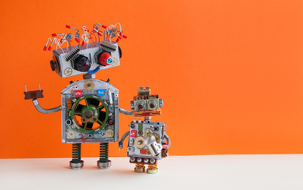 ロボットが二台ある