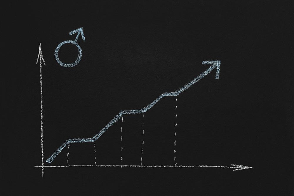 右肩上がりのグラフ